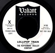 Label for the 45 Single of Lollipop Train