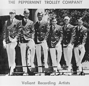 Valliant Records promotion for the Peppermint Trolley Company