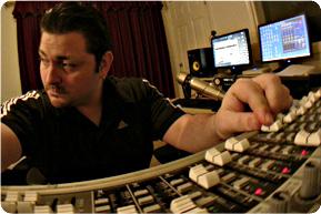 Bryan at the soundboard.