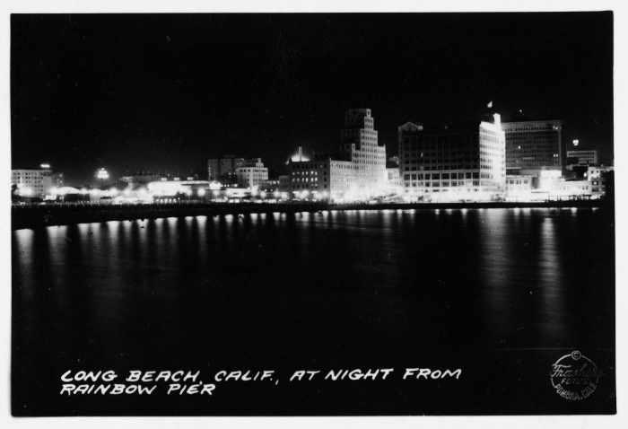Long Beach, CA at night from Rainbow Pier